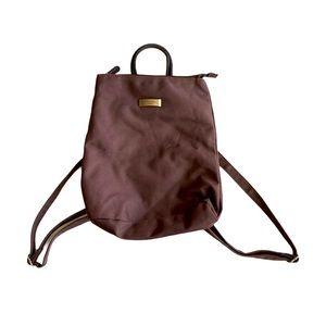 paquetage paris brown nylon backpack